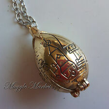 Golden hinged egg pendent necklace Harry Cedric Triwizard cup slightly imperfect