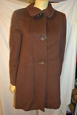 Ellen Tracy  Brown Sugar Wool Angora car Dress Coat size 2 P petite