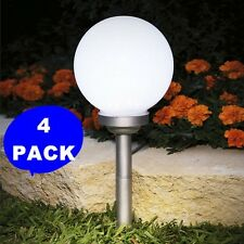 "4-Pack 5.9""x5.9"" Solar Stake Globe Bright White LED Garden Ball Light Lamp Post"