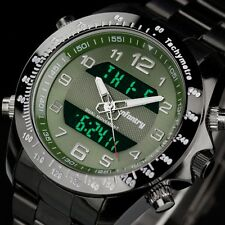 INFANTRY Luxury Pilot Stainless Steel Quartz Digital Date Sport Mens Wrist Watch