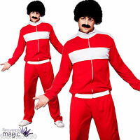 MENS 1980s 80s RETRO TRACKIE 118 FANCY DRESS COSTUME SCOUSER TRACKSUIT WIG TASH