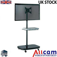 "FS940 Mobile TV Trolley Stand w/ Shelf & Tilting Bracket for 19"" to 37"" TVs"
