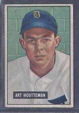 1951 Bowman #45 Art Houtteman Pitcher Detroit Tigers EX-MT to EX-MT Plus