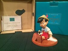 "WDCC Pinocchio & Jiminy Cricket ""Anytime You Need Me, You Know, Just Whistle"""