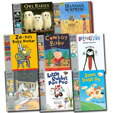 School Story Book and DVD Collection 8 Children Books Set Owl Babies, Penguin
