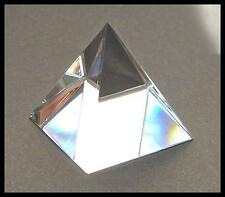 BEAUTIFUL CRYSTAL CLEAR EGYPTIAN PYRAMID 30MM PRISM RAINBOW MAKER