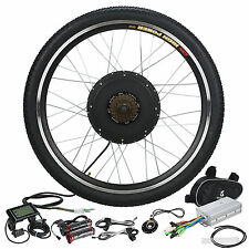 48V Rear Wheel Electric Bicycle E Bike Motor Conversion Kit 1000W Hub LCD Meter