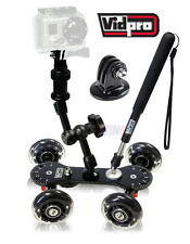 GoPro Mount Adapter and VidPro SK-22 Skater Dolly for GoPro Similar Models