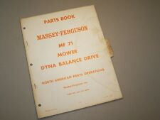 MF 71 MOWER SICKLE for MASSEY FERGUSON TRACTOR PARTS BOOK MANUAL CATALOG