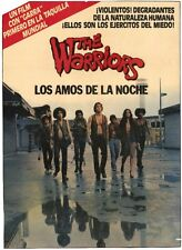 THE WARRIORS Movie Promo POSTER Argentine B Michael Beck James Remar