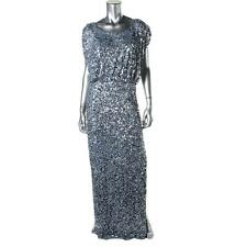 JS COLLECTIONS  NEW Womens Gray Sequined Prom Evening Dress Gown 8