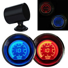 "2"" 52MM LED Digital EVO Water Temp Temperature Gauge Meter Red&Blue +Black Pod"