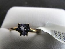 10kt gold tanzanite solitaire ring .50 ctw size 6 1/2 - weight 2 grams. nwt