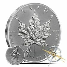 2016 1 oz Bigfoot Privy Silver Maple Leaf Reverse Proof Coin 5 dollars Sasquatch