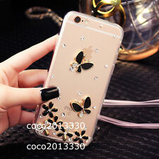 Bling crystal Gems Diamonds Soft ultra thin TPU back Gel Shell Case Cover Skin B