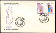 Turkish Cypriot Posts 1989 Europa, Children Games FDC First Day Cover #C37164