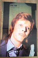 DAVID BOWIE 'purple suit' Centerfold magazine POSTER  17x11 inches