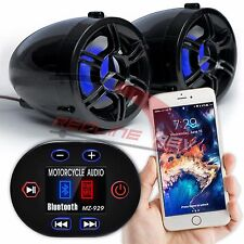 Waterproof Bluetooth Motorcycle Handlebar Audio Stereo Speaker System MP3 AUX FM