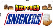 2' X 4' VINYL BANNER DEEP FRIED SNICKERS CANDY BARS