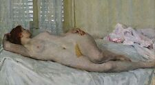 """oil painting handpainted on canvas """"a naked woman lying on the bed""""@NO5366"""