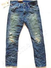 New Ralph Lauren Denim & Supply Prospect Slim Distressed Ripped Jeans sz 34 x 34