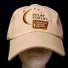 Relay For Life Low Rider Baseball Hat Caregiver Cancer Awareness Tan Cap New