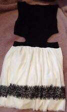 BLACK AND CREAM DRESS 8 miso Cut Out Lace Sleeveless