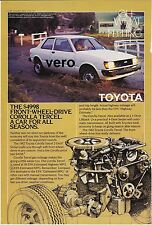 vtg 1982 TOYOTA COROLLA TERCEL 1981 print ad mag page clipping car automobile