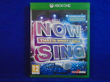 xbox one NOW THAT'S WHAT I CALL MUSIC SING Karaoke Singing Game Microsoft PAL