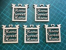 mdf  wooden miniature home sweet home /shape /  sign / stencil