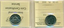 2008 Canada 5 cent Certified ICCS MS-65