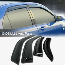 88-91 Honda Civic DX LX Sedan Window Vent Shade Acrylic Guard Visors 4 Door/4DR