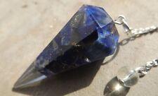 Faceted orgone healing lapis lazuli crystal dowsing pendulum