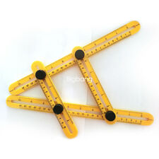 New Adjustable 4-Sided Folding Measuring Tool Multi-Angle Template Scale Ruler
