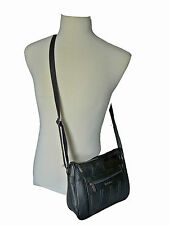 Italian Soft Nappa Leather Ladies Handbags Black Womens Small Shoulder Bags 1273