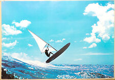 (PRL) 1979 WIND SURFING WAVES SPORT VINTAGE AFFICHE POSTER ART PRINT COLLECTION