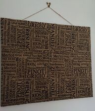 OUT OF STOCK ��Natural Large Hessian Jute ��WINE�� Print Notice Memo Pin Board