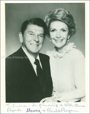RONALD REAGAN - INSCRIBED PHOTOGRAPH SIGNED CO-SIGNED BY: NANCY DAVIS REAGAN