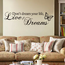 Don't Dream Your Life Live Your Dreams... Motivational Quote Home Wall Sticker