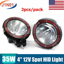 HID Xenon Driving Lights - 2pcs 4Inch 35w SPOT Beam UTE 4X4WD Off Road 12V Round