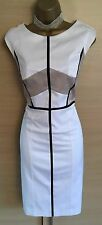 Exquisite Marcelino Spanish Couture Colour Block Wiggle Dress UK14 Perfect