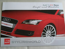 Audi TT Coupe & Roadster Race styling by MS Design brochure May 2002 German text