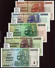 "Zimbabwe ""$100-Trillion Series"" (2008) 3OV 5-Pc UNC Notes {pakimProPAK}: VA166.5"