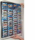 Hotwheels Display Case (black) for carded cars w Dust Cover for up to 52 cars
