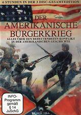 DVD-BOX NEU/OVP - Der amerikanische Bürgerkrieg - Doku - ca. 6 Stunden - 3 DVDs