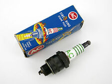 (1) Vintage AC 44S Fire Ring Spark Plug Four Equal Green Rings NOS HOT ROD CAR