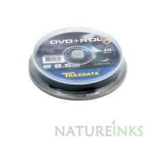 50 Traxdata Branded Dual Layer DVD+R DL 8x Discs 8.5GB Ritek in cake box
