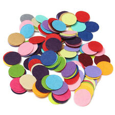 200pcs 2.5cm Round Felt Pads Apparel Sewing & Fabric Patches Flower Brooch Decor