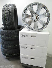 "22"" NEW GMC SIERRA CHEVY FACTORY STYLE GRAY CHROME WHEELS 285-45-22 TIRES 5660"