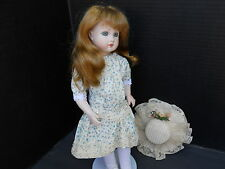 """""""15"""" ANTIQUE REPRODUCTION """"A9"""" GERMAN ARTIST DOLL w/Vintage cloths comes w/stand"""
